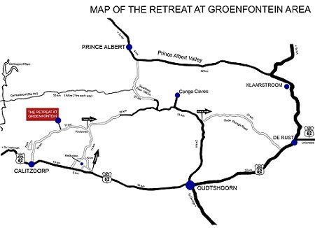 Map The Retreat at Groenfontein in Calitzdorp  Klein Karoo  Western Cape  South Africa