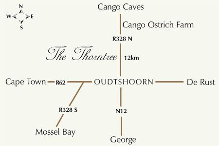 Map The Cottages in Oudtshoorn  Klein Karoo  Western Cape  South Africa
