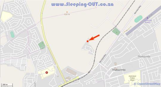 Map ThabaNkwe Bushveld Lodge in Thabazimbi  Waterberg  Bushveld  Limpopo  South Africa