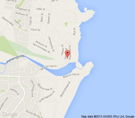 Map Plett Beachfront Accommodation in Plettenberg Bay  Garden Route  Western Cape  South Africa