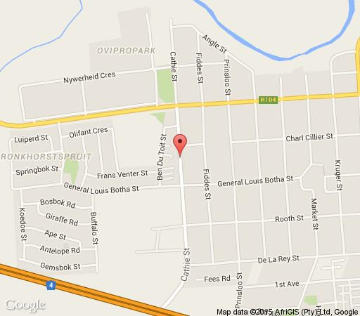 Map Sinkshack Guest House in Bronkhorstspruit  Pretoria East  Pretoria / Tshwane  Gauteng  South Africa