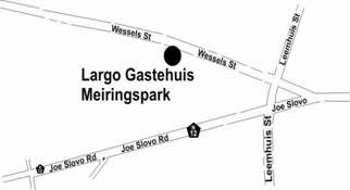 Map Largo Gastehuis / Guest House in Klerksdorp  Southern (NW)  North West  South Africa
