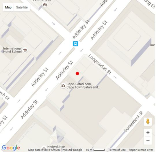Map L16 Adderley Terrace in De Waterkant  City Bowl  Cape Town  Western Cape  South Africa
