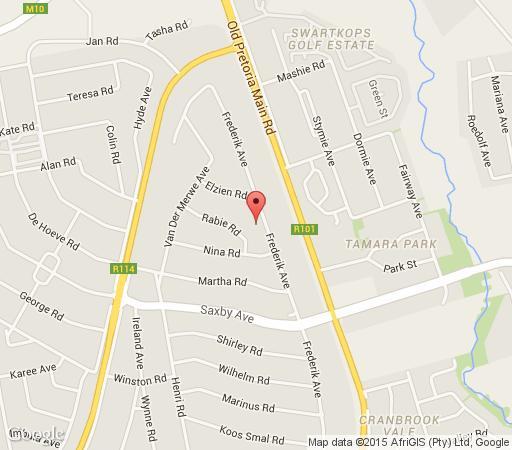 Map Rosenthal Guesthouse in Eldoraigne  Centurion  Pretoria / Tshwane  Gauteng  Zuid-Afrika