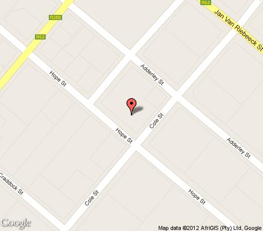 Map HouseVDLingen in Bedford  Cacadu (Sarah Baartman)  Eastern Cape  South Africa