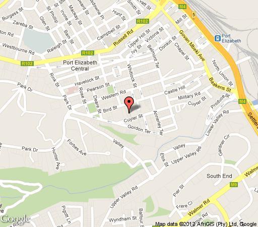 Map Donkin Heritage Lodge in Port Elizabeth Central  Port Elizabeth  Cacadu (Sarah Baartman)  Eastern Cape  South Africa