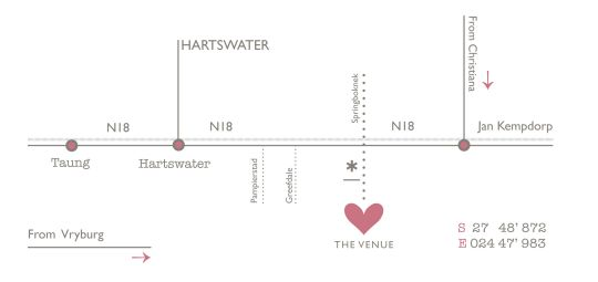 Map The Venue in Hartswater  Diamond Fields  Northern Cape  Suid-Afrika