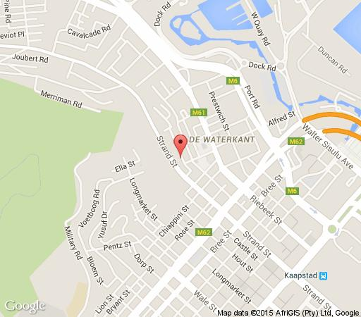 Map 19 Loader Street in De Waterkant  City Bowl  Cape Town  Western Cape  South Africa
