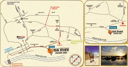Map Sun River Kalahari Lodge in Upington  Green Kalahari  Northern Cape  Suid-Afrika