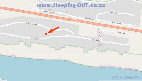 Map Inn2Wilderness Guesthouse in Wilderness  Garden Route  Western Cape  South Africa