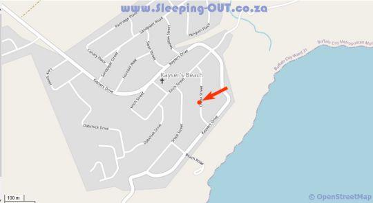 Map Little Arniston in Kaysers Beach in Kayser's Beach  Amatole  Eastern Cape  South Africa