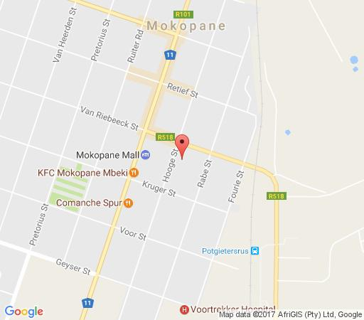 Map @ Marula in Mokopane  Waterberg  Bushveld  Limpopo  South Africa