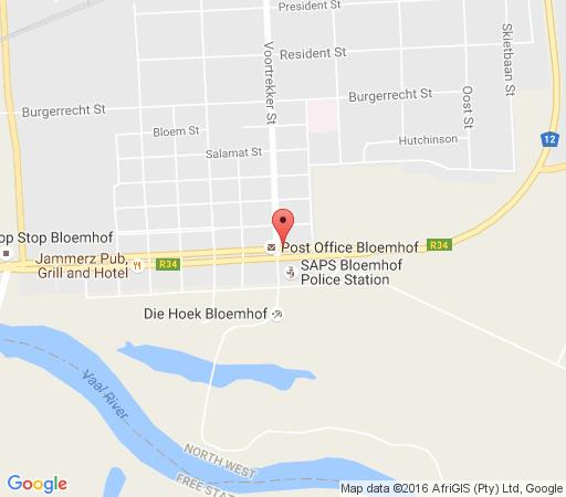 Map WhyNot Restaurant & Guest Lodge in Bloemhof  Southern (NW)  North West  South Africa