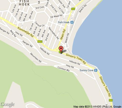 Map The Berry Basket in Fish Hoek  False Bay  Cape Town  Western Cape  South Africa