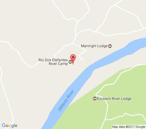 Map Rio Dos Elefantes River Camp in Balule Nature Reserve  Greater Kruger Park  Kruger National Park (LIM)  Limpopo  South Africa