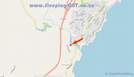 Map Providence 40 in Margate  South Coast (KZN)  KwaZulu Natal  South Africa