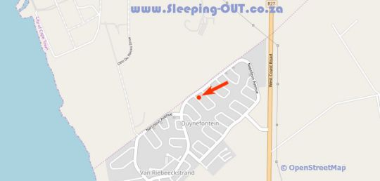 Map 4 Human  in Melkbosstrand  Blaauwberg  Cape Town  Western Cape  South Africa