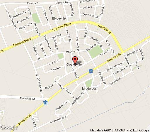 Map Bet-El Guestrooms in Upington  Green Kalahari  Northern Cape  South Africa