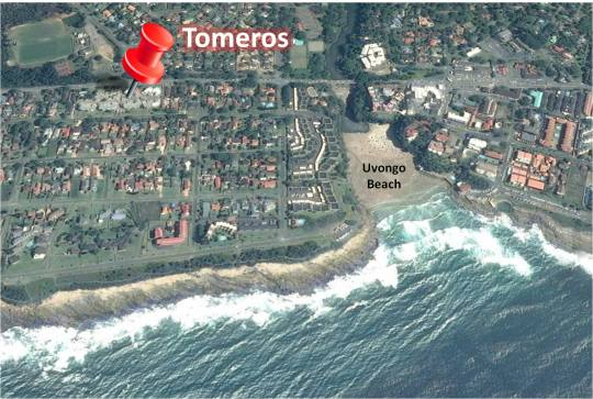Map 51 Tomeros in Uvongo  South Coast (KZN)  KwaZulu Natal  South Africa