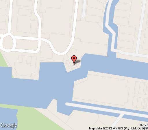Map Knysna Houseboats in Knysna  Garden Route  Western Cape  South Africa