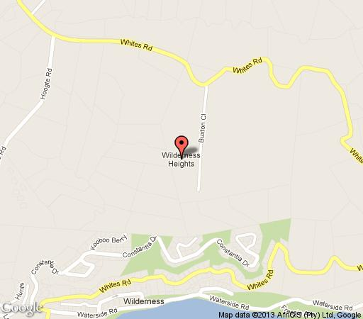 Map Amber Heights in Wilderness  Garden Route  Western Cape  South Africa