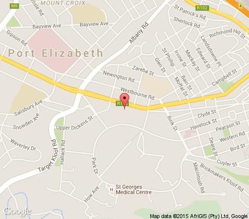 Map The Vic - Urban Hip Hotels in Mill Park  Port Elizabeth  Cacadu (Sarah Baartman)  Eastern Cape  South Africa