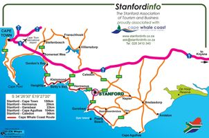 Map Stanfordstay in Stanford  Overberg  Western Cape  South Africa