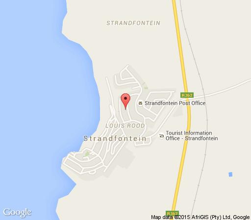 Map Strandfontein Accommodation in Strandfontein  West Coast (WC)  Western Cape  South Africa