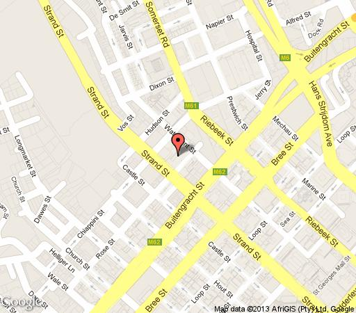 Map C9 Soho on Strand in De Waterkant  Atlantic Seaboard  Cape Town  Western Cape  South Africa