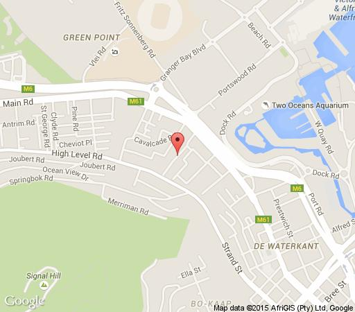 Map Watergate Cascades in Green Point  Atlantic Seaboard  Cape Town  Western Cape  South Africa