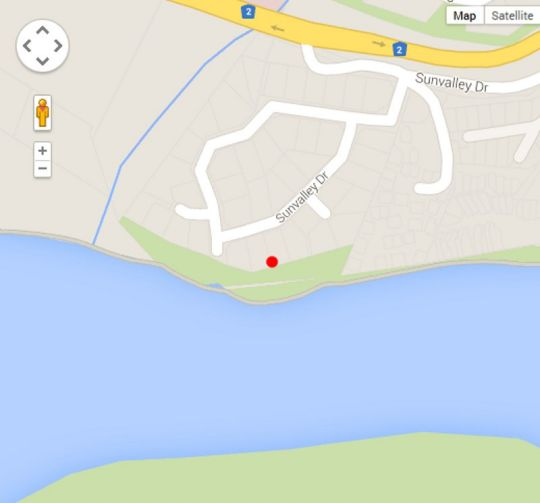 Map Sun Valley Place in Knysna  Garden Route  Western Cape  South Africa