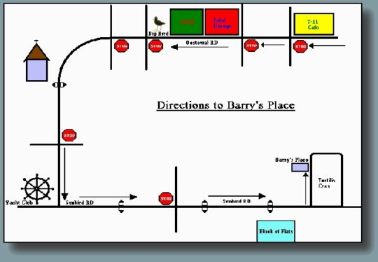 Map Barry\'s Place in Langebaan  West Coast (WC)  Western Cape  South Africa