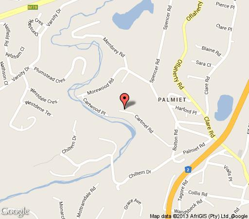 Map Divine Mews in Clare Estate  Durban  Durban and Surrounds  KwaZulu Natal  South Africa