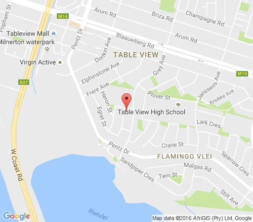 Map Weaver Place in Bloubergstrand  Blaauwberg  Cape Town  Western Cape  South Africa