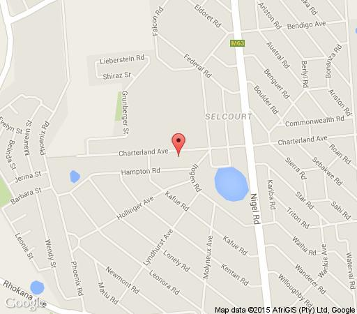 Map Charter Guesthouse in Springs  Ekurhuleni (East Rand)  Gauteng  South Africa