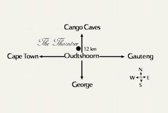 Map The Thorntree Country House in Oudtshoorn  Klein Karoo  Western Cape  South Africa