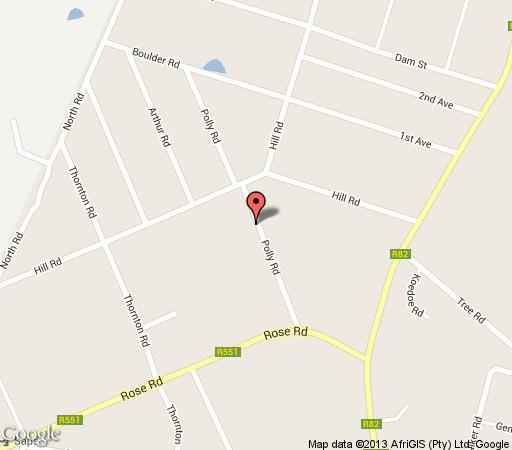 Map Thukela Resorts in Vereeniging  Sedibeng District  Gauteng  South Africa