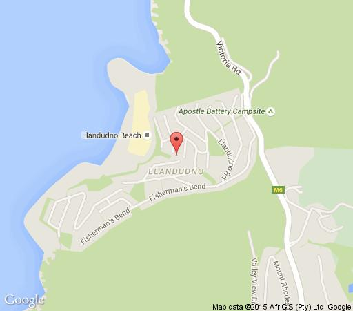 Map Two Berry House  in Llandudno  Atlantic Seaboard  Cape Town  Western Cape  South Africa