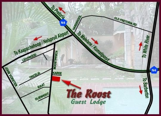 Map The Roost in Nelspruit  Lowveld  Mpumalanga  South Africa