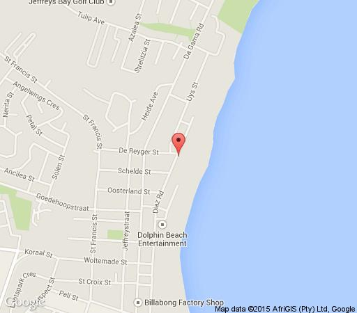 Map Diaz 15 House on the Bay in Jeffreys Bay  Cacadu (Sarah Baartman)  Eastern Cape  South Africa