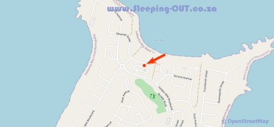 Map Shelley Point TF22 in Shelley Point  West Coast (WC)  Western Cape  South Africa