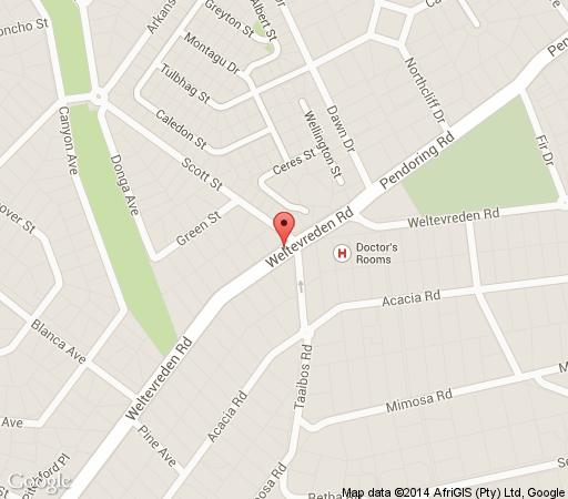 Map Morrells Manor House in Northcliff  Northcliff/Rosebank  Johannesburg  Gauteng  South Africa
