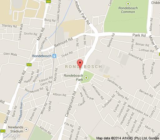 Map Roodenburg House 1882 in Rondebosch  Southern Suburbs (CPT)  Cape Town  Western Cape  South Africa