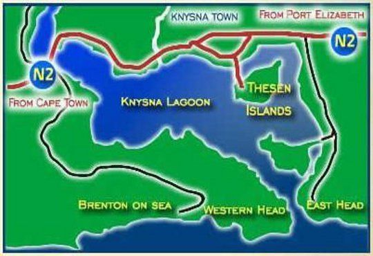 Map Before the  Wind - Penthouse in Knysna  Garden Route  Western Cape  South Africa