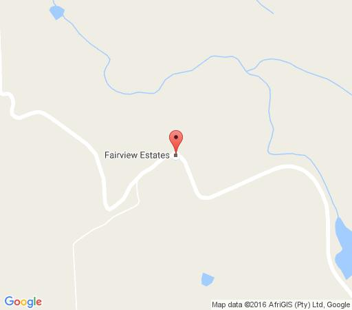Map Fairview Estates  in Fouriesburg  Thabo Mofutsanyana  Free State  South Africa