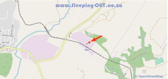 Map Elgin Valley Inn in Elgin  Overberg  Western Cape  South Africa