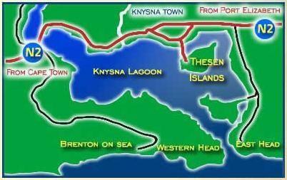 Map 16 Saffron Island Villa in Knysna  Garden Route  Western Cape  South Africa