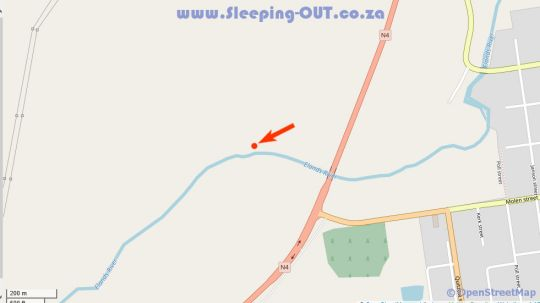 Map Fancy Free Fly Fishing Retreat in Machadodorp  Highlands  Mpumalanga  South Africa