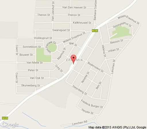 Map Velmore Hotel Estate in Hennops River  Centurion  Pretoria / Tshwane  Gauteng  South Africa