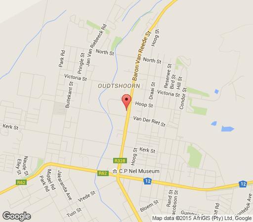 Map @Yamkela Guesthouse in Oudtshoorn  Klein Karoo  Western Cape  South Africa